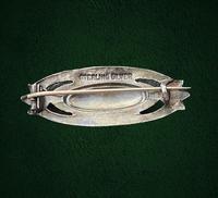 Antique Arts & Crafts Silver and Enamel Brooch c.1910 (4 of 6)