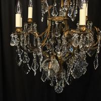 French Gilded Bronze Birdcage Crystal Chandelier (5 of 10)