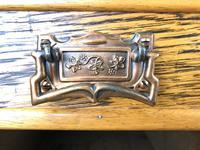 Edwardian Antique Oak Kneehole Desk (3 of 13)