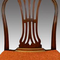 Set of 8 Edwardian mahogany Hepplewhite dining chairs (2 of 12)