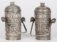 Chinese Pair of Qing Silver Metal Handled Lidded Containers (2 of 22)