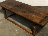Very Early Oak Farmhouse Refectory Dining Table (16 of 31)