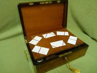 Quality Fully Brass Bound Rosewood Writing Box. Many Features. C1875 (5 of 16)