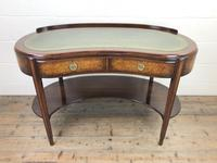Kidney Shaped Writing Desk with Leather Top (2 of 9)