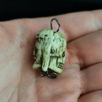 Rare Georgian Memento Mori Pendant, Skull & Jesus, 18th Century (2 of 12)