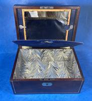Georgian Brass Inlaid Mahogany Jewellery Box. (13 of 20)