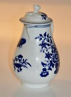 Worcester 'Three Flowers' Pattern, Sparrow-Beak Jug & Cover c.1770 / 1790 (4 of 11)