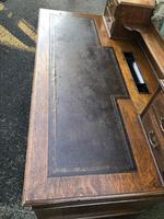 Antique Oak Pedestal Writing Desk (Pri) (12 of 13)