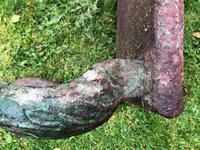 French 18th Century Georgian Grand Tour Garden Cast Iron Plinth Table Claw Feet (4 of 33)