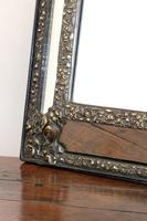 Dutch Repousse Brass Cushion Framed Mirror with Arched Crest (7 of 12)