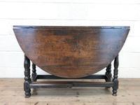 Antique Oak Drop Leaf Table (6 of 11)