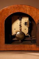 Art Deco Walnut & Ebonised Mantel Clock c.1930 (7 of 7)