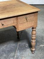 French Bleached Oak Writing Desk (9 of 21)