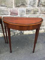 Pair Antique Mahogany Console Tables (5 of 9)