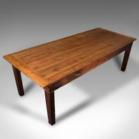 Large, 8 Seat Antique Dining Table, English, Pine, Country Kitchen, Victorian (7 of 11)