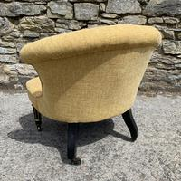 Small Antique Victorian Upholstered Salon Chair (7 of 17)