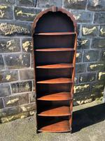 Antique Slim Oak Domed Top Open Bookcase (2 of 8)