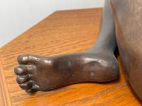 Art Deco Style Nubile African Tribal Bronze Nude Lady Statue Sculpture (11 of 28)