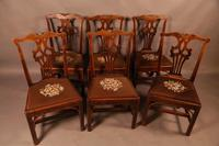 Set of 6 Country Chippendale Dining Chairs (2 of 11)