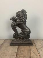 Victorian Cast Iron Lion Rampant Doorstop In Original Condition; Door Stop; Door Porter (5 of 7)