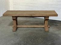 Extremely Rare Large Oak Refectory Table (4 of 35)