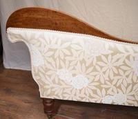 Regency Chaise Longue Sofa Walnut Lounge Day Bed (8 of 25)