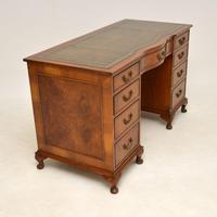 Burr Walnut Pedestal Desk c.1930 (6 of 10)