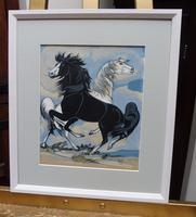 Watercolour & Ink Study of Stallions Artist Vigil (3 of 10)