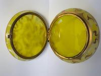 Antique Art Nouveau Loetz Art Glass Round Gilt Floral Trinket Box (11 of 33)