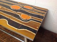 1960s Volcanic Tile Coffee Table on Chrome Supports (5 of 7)