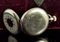Antique Half Hunter Pocket Watch, Gold Plated, Waltham (9 of 11)
