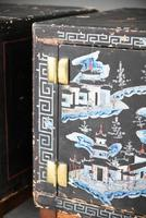 Pair of Small Black Chinese Painted Cabinet (10 of 12)