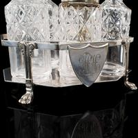 Antique Condiment Serving Set, English, Silver Plate, Table, Ashbury, Edwardian (10 of 12)