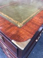 Brass Bound Mahogany Military Pedestal Desk (7 of 14)