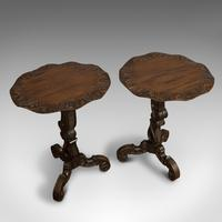 Pair of Antique Side Tables, Asian, Elm, Occasional, Wine Stand, Victorian, 1900 (11 of 11)