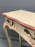 Large French painted console table with drawers (5 of 8)