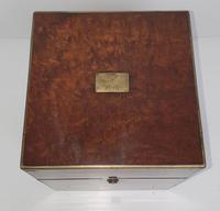 19th Century Brass Bound Burr Walnut Decanter Box (5 of 6)
