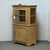 Attractive Small Pine Display Cabinet C.1900 (4 of 4)