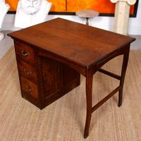 Carved Oak Desk French Writing Table Golden (7 of 15)