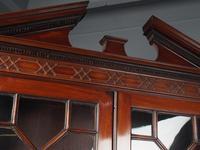 Antique George III Mahogany Bureau Bookcase (5 of 12)