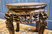 19th Century Chinese Rosewood & Marble Jardinière Stand / Lamp Table (5 of 11)