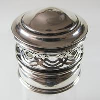 Antique Edwardian Cut Crystal Glass Sugar Shaker with Sterling Silver Top (4 of 7)