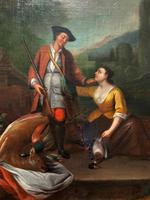 Circle of John Theodore Heins Fine Large 18th Century Hunting Oil Painting (5 of 11)