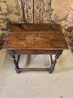 Signed 18th Century Oak Occasional Table (2 of 6)