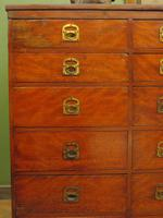 Substantial Antique Bank Of 18 Shop Drawers (10 of 25)