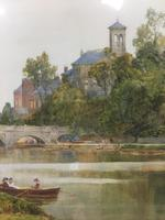The Thames at Richmond -  Antique Watercolour by James Aumonier (3 of 4)