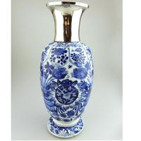Very Fine Chinese Blue & White Porcelain Hand Painted Vase 17th Century