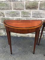 Pair Antique Mahogany Console Tables (2 of 9)