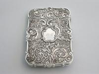 Victorian Silver Castle-top Card Case - St Luke's Church, Liverpool by Nathaniel Mills, Birmingham, 1845 (10 of 12)