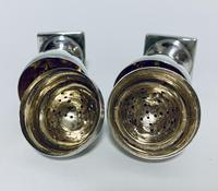 Pair of 18th Century Georgian Solid Sterling Silver Salt and Pepper Shakers Pepperettes (12 of 12)